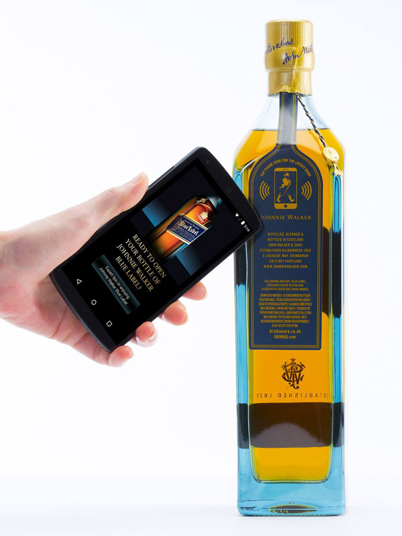 Diageo Thinfilm NFC Connected Smart Bottle