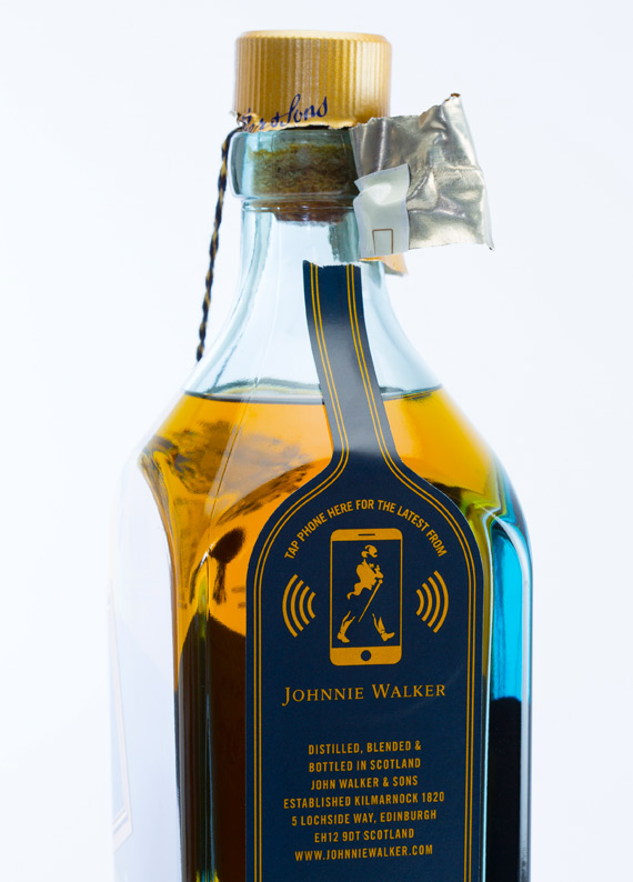 Diageo Thinfilm Connected Smart Bottle