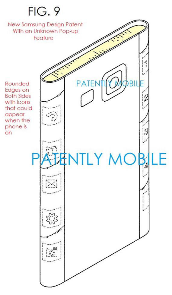 Samsung Galaxy S6 dual-edge patent