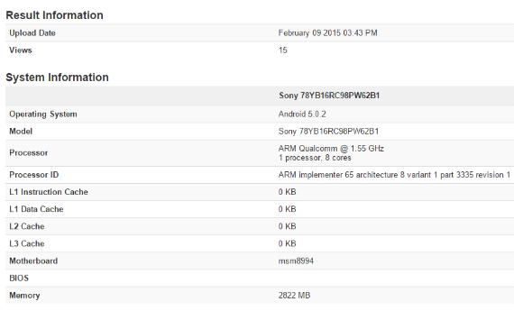 Sony Xperia Z4 benchmark