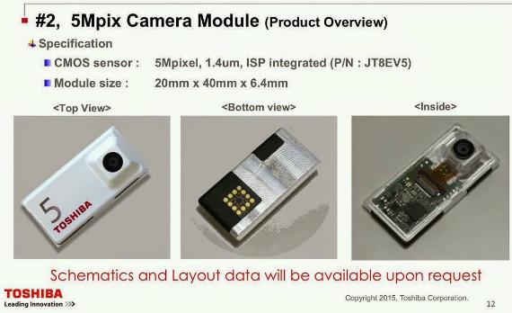 Toshiba camera modules Project Ara