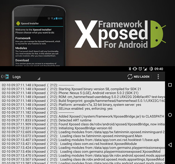 Xposed framework for Android