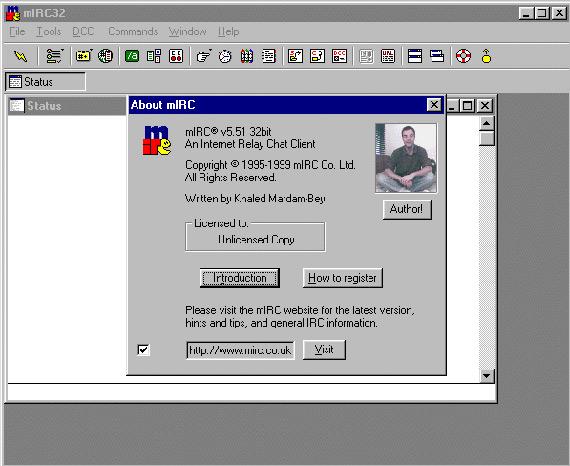 mirc32 screenshot