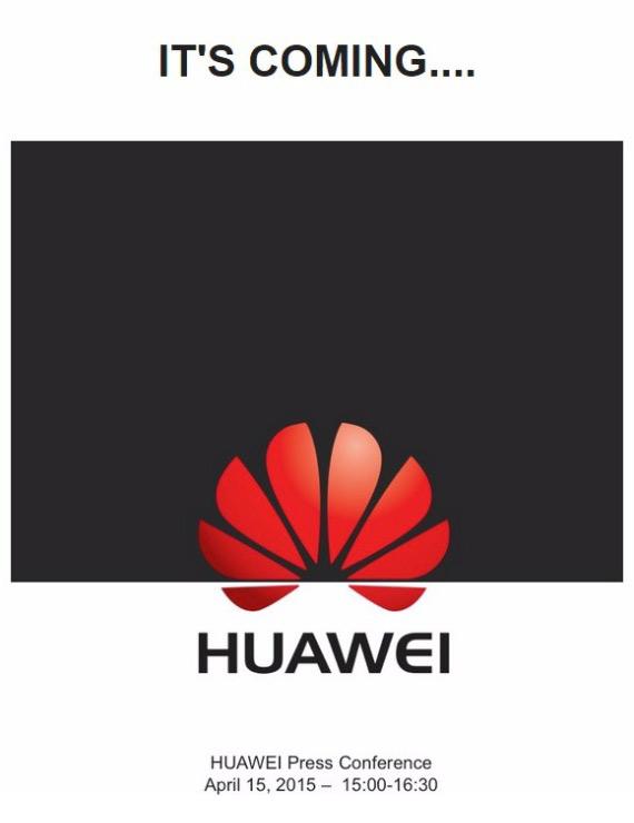 Huawei P8 invitation