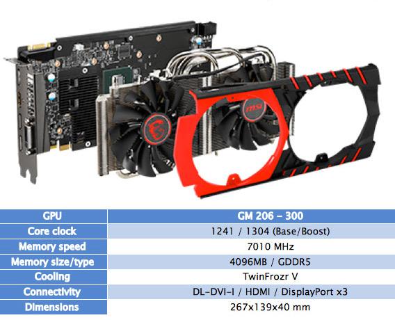 MSI Nvidia GTX-960 specs