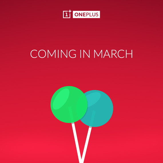 OnePlus One Android Lollipop March