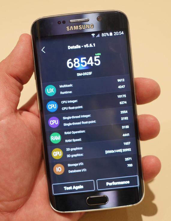 Samsung Galaxy S6 Edge Antutu