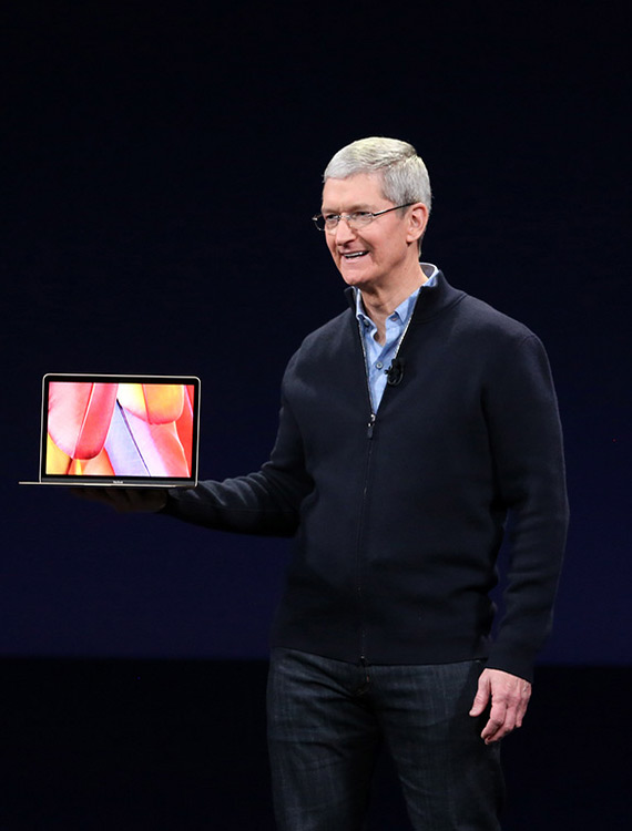 Tim Cook MacBook Air 2015