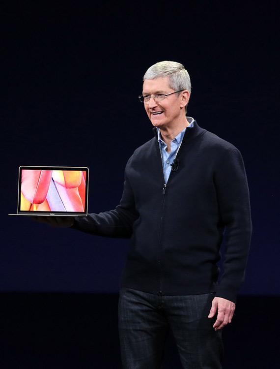 Tim Cook MacBook Air 2015