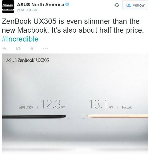 asus vs macbook
