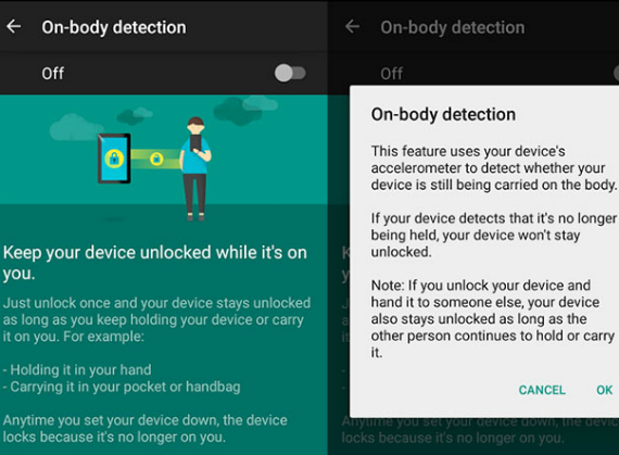 google on body detection