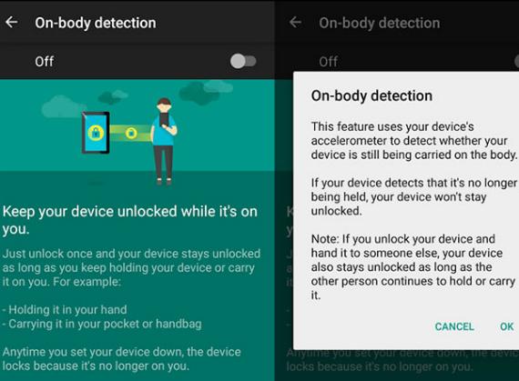 google on body detection