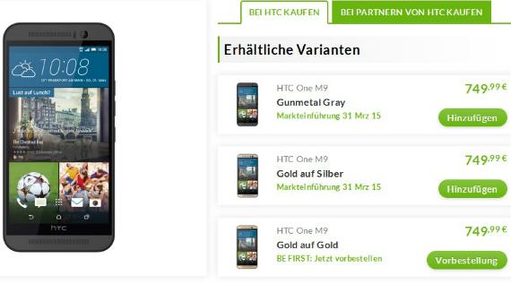 htc one m9 price