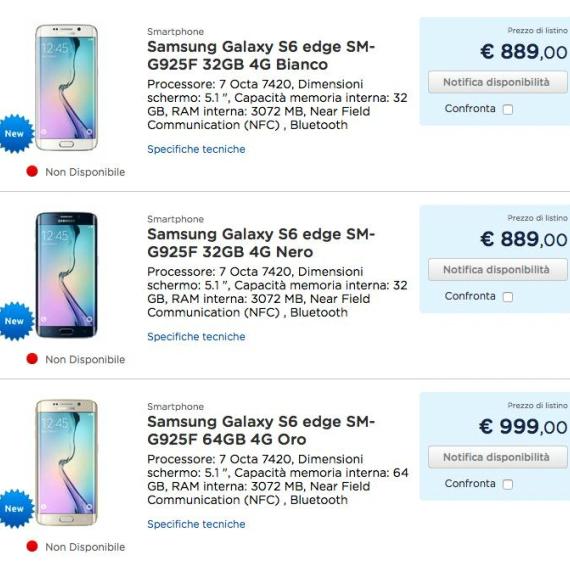 samsung galaxy s6 edge price