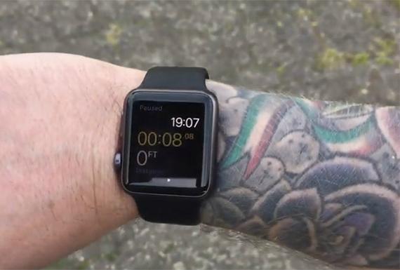 apple tattoo watch