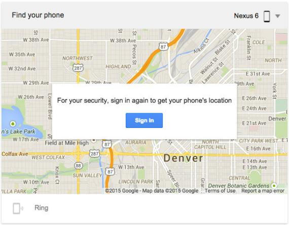 google find my fone