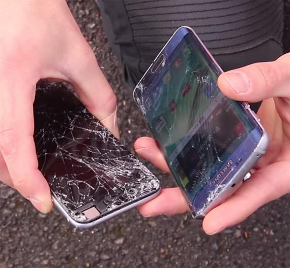 iphone 6 galaxy s6 drop test