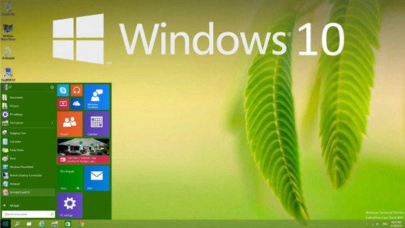microsoft windows 10 homescreen