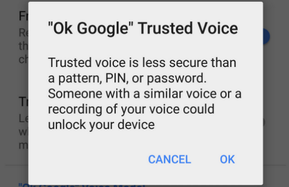 trusted voice android