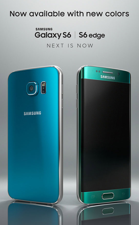 Galaxy S6 Blue Topaz and Galaxy S6 Edge Emerald Green