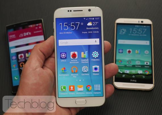 Galaxy S6 LG G4 One M9 mega video test