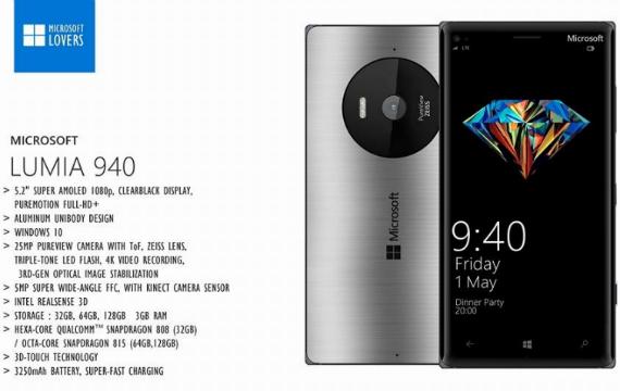 Microsoft Lumia 940 and XL concept