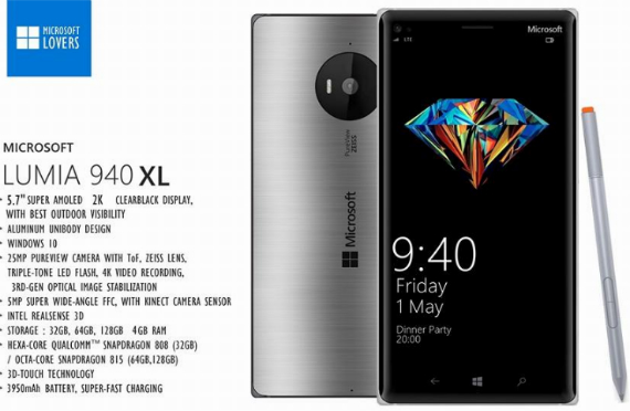 Microsoft Lumia 940 and XL concept