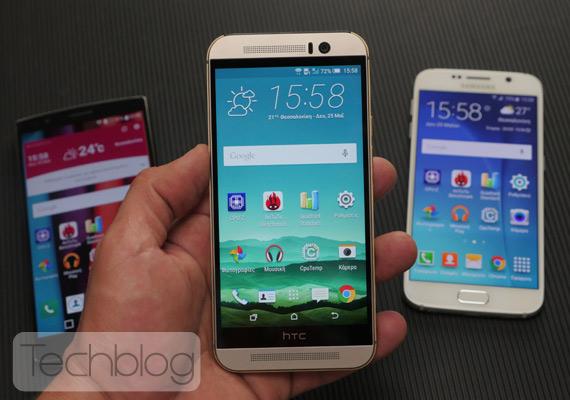 One M9 LG G4 Galaxy S6 mega video test