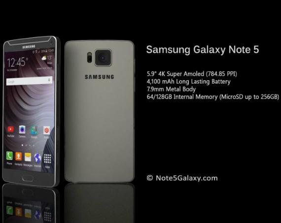 Samsung Galaxy Note 5 concept renders