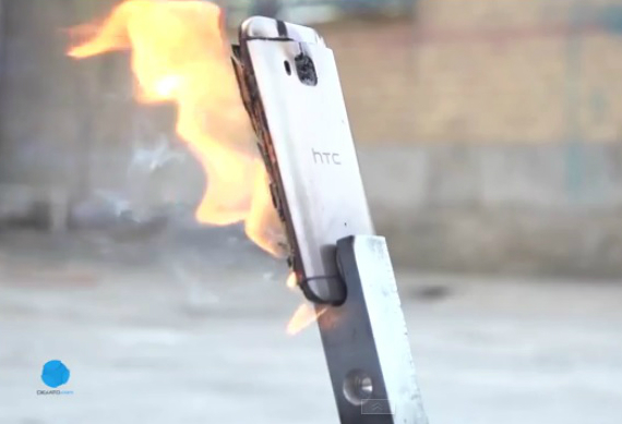 htc one m9 fire