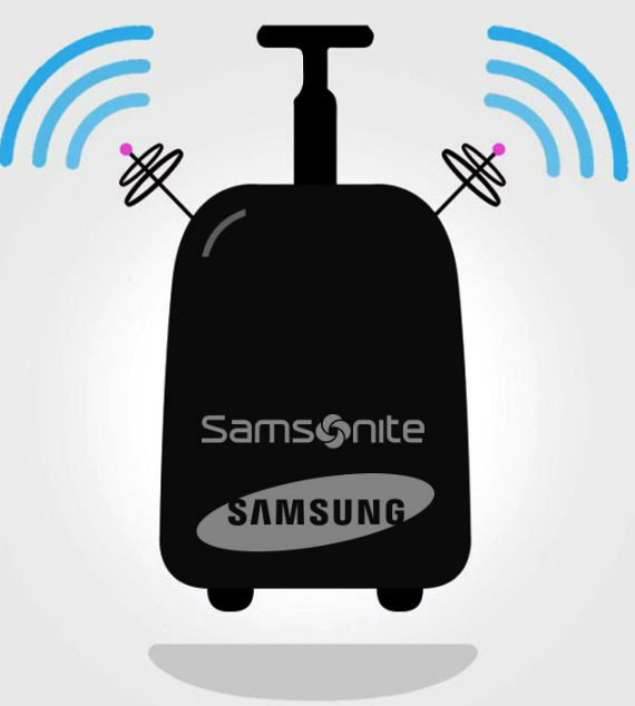 samsung samsonite suitcase