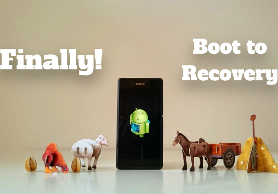 sony boot to recovery