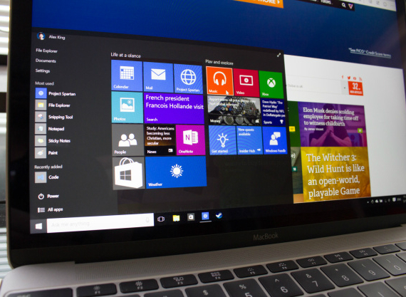 windows 10 macbook
