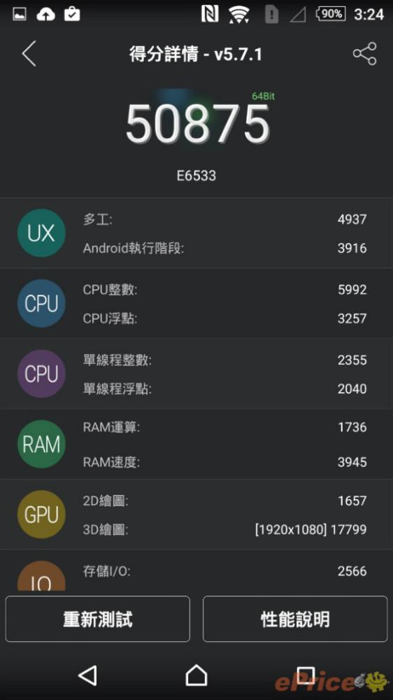 xperia z3 plus benchmark
