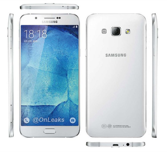 Samsung Galaxy A8 renders