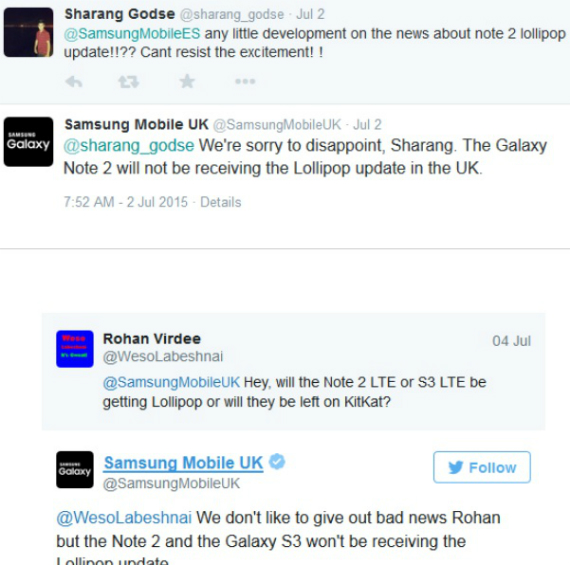 update lollipop samsung