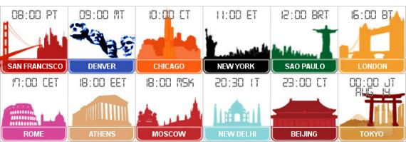 samsung event timezones