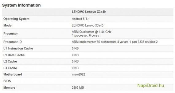 Lenovo Vibe X3 specs leaked Lemon