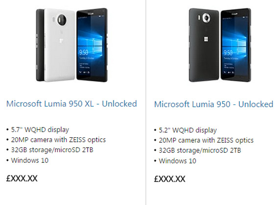 Lumia 950 and Lumuia 950 XL