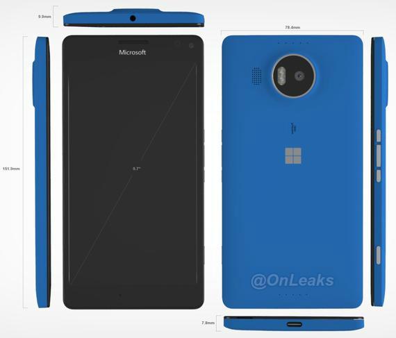 Microsoft Lumia 950 XL renders