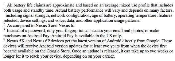 Nexus 5X specs