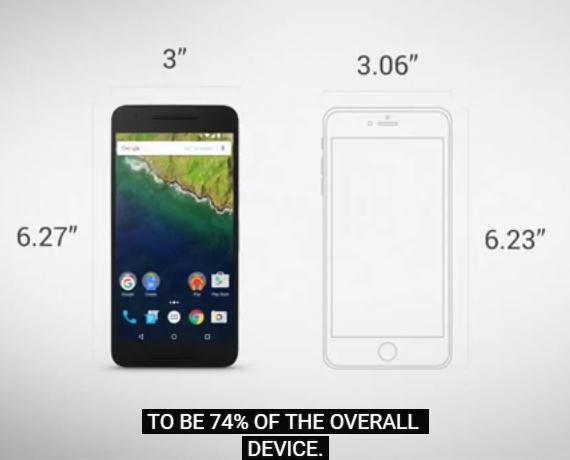 Nexus  6P iPhone 6s Plus