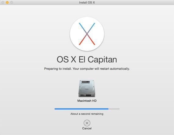 OS X El Capitan update
