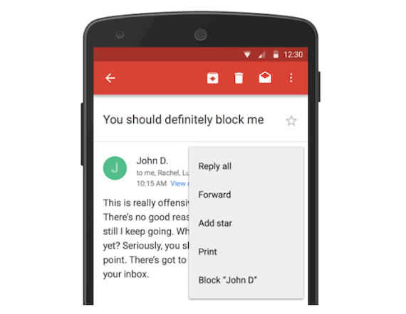 gmail block email