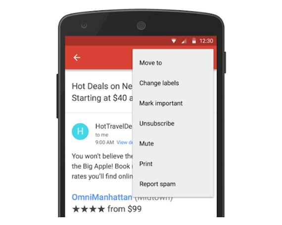 gmail unsunscribe