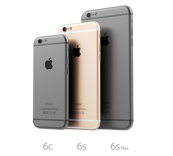 iPhone 6c 6s 6s Plus renders