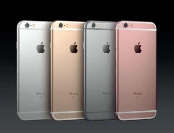 iPhone 6s revealed colors