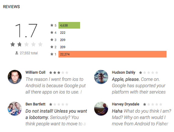 move to iOS bad critics