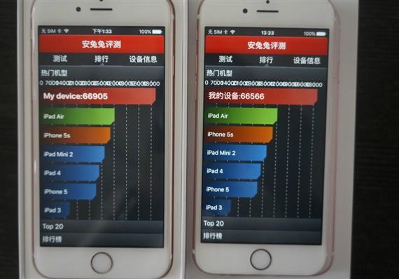Samsung A9 vs TSMC A9 benchmark