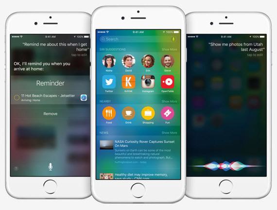 iOS 9 screens